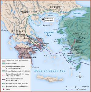 Περσικοι πολεμοι χάρτης