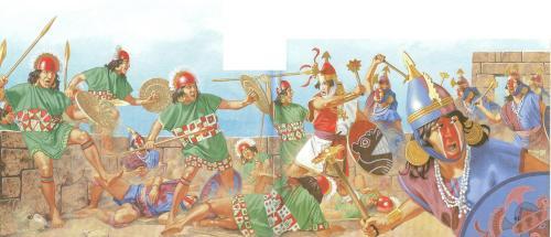 Inca  Peruvian battle1