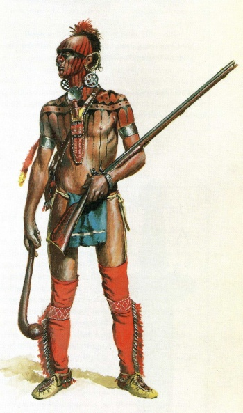 ottawa or Huron warrior 18th cent