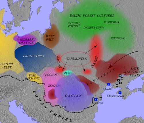 Eastern and Central Europe around 100 AD