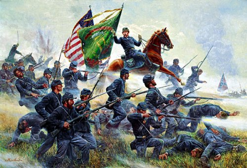 Mort Kuntsler's print Raise The Colors the-irish-brigade-at-antietam