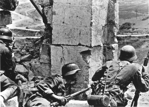 German infantry in Sevastopol