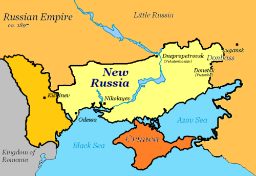 New Russia during Russian Empire(now south Ukraine)