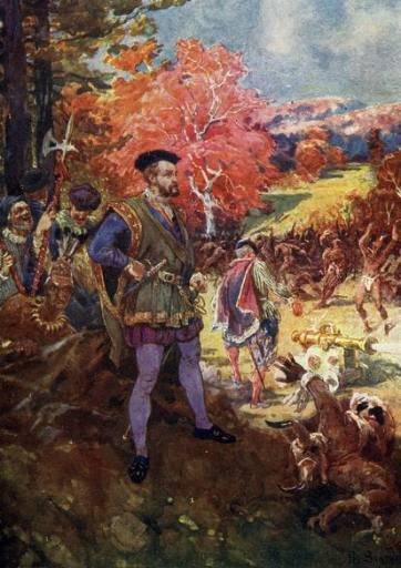Jacques Cartier ordered cannon firings to impress the Indians