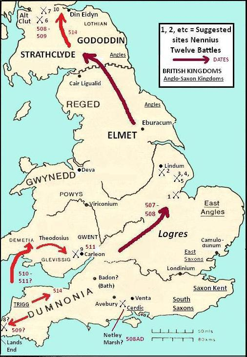 Map Of England King Arthur.King Arthur Part Iii Some Literary Archaeological And Historical