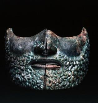 etruscan visor mask.Vulci, V c B.C.