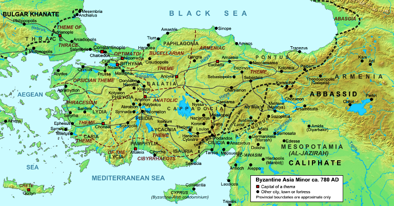 Cappadocians armenians and greeks in byzantine eastern asia minor asiaminorca780ad map of byzantine publicscrutiny Choice Image