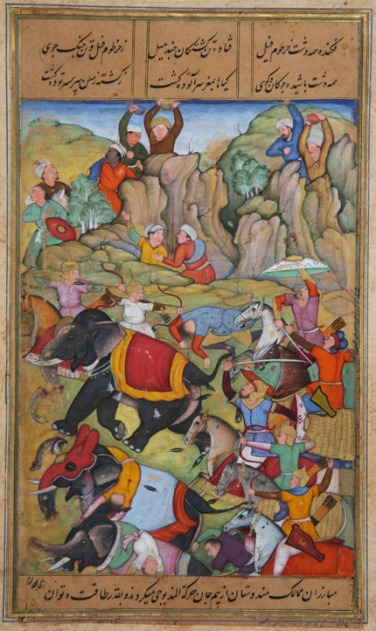 Timur defeats the Sultan of Delhi, in1397–1398